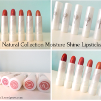 Natural Collection Moisture Shine Lipsticks- Review:)
